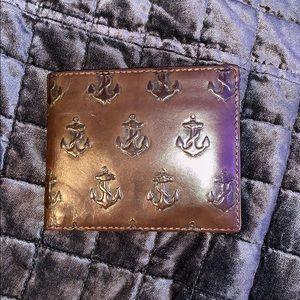 Jack Spade Anchor Embossed Wallet (chocolate)